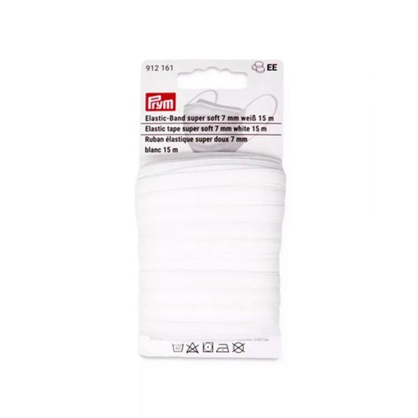 Elastic-Band super soft 7 mm weiß 15 m