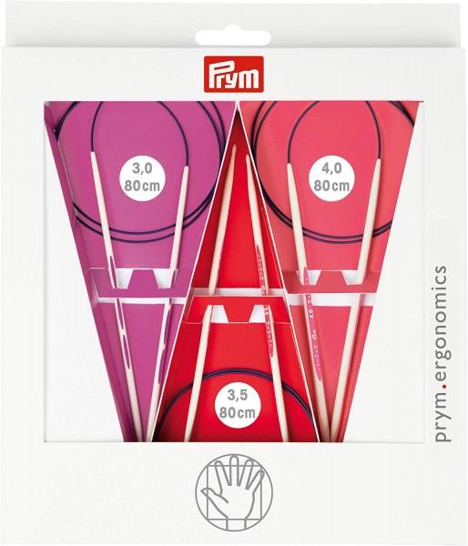 Rundstricknadeln Prym Ergonomics Set 80 cm 3,00 - 4,00 mm