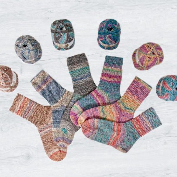 Flotte Socke 4f. Baumwolle + Merino Stretch Sparpaket