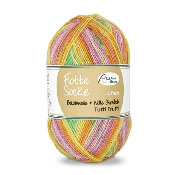 Flotte Socke 4f. Baumwolle + Wolle Stretch Tutti Frutti