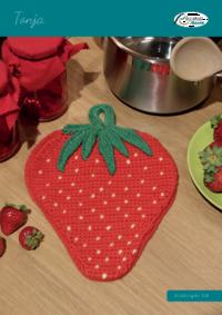 """124 Tonja Schulgarn Topflappen """"Erdbeere"""""""