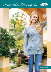 375 Elena color Leinengarn   Pullover mit Cut-Outs