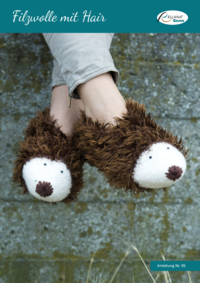 95 Filzwolle mit Hair Igel-Pantoffeln